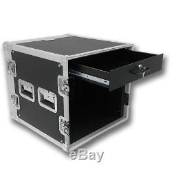 Seismic Audio 10 SPACE RACK CASE with 2U LOCKING DRAWER Amp Effect Mixer PA/DJ PRO