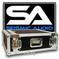Seismic Audio 4 SPACE RACK CASE for Amp Effect Mixer PA/DJ PRO Audio