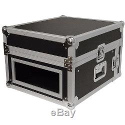 Seismic Audio 4 Space Rack Case with Slant Mixer Top-Amp Effect PA/DJ Pro Audio