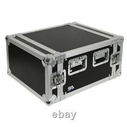 Seismic Audio 6 Space Pro Audio DJ Road Rack Case Pro Tour Grade