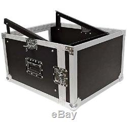 Seismic Audio 6 Space Rack Case with Slant Mixer Top-Amp Effect PA/DJ Pro Audio