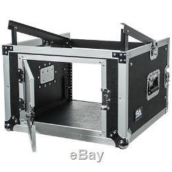 Seismic Audio 6 Space Rack Case with Slant Mixer Top-Amp Effect PA/DJ Pro Audio