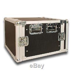 Seismic Audio 8 SPACE RACK CASE Amp Effect Mixer PA/DJ PRO Audio New