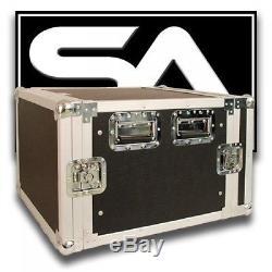 Seismic Audio 8 SPACE RACK CASE for Amp Effect Mixer PA/DJ PRO Audio