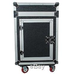 Seismic Audio SAMRC-12U 12 Space Rack Case with Slant Mixer Top and Casters