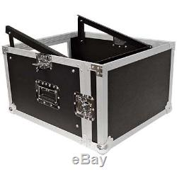Seismic Audio SAMRC-6U 6 Space Rack Case with Slant Mixer Top PA/DJ Pro