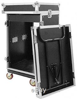 Seismic Audio SAMRWT-16U 16 Space Rack Case With 10 Space Slant Mixer Top