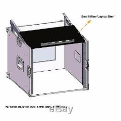 Sound Town 12-Space PA Rack/Road Case with Slant Mixer Top, 25.6 Depth STMR-S12UW