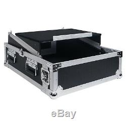 Sound Town 2U Glide Style Case with 11U Slant Mixer 20 Rackable Depth STMR-2ULT