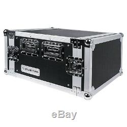 Sound Town 6U Rack Case, 6-Space with 17 Depth Plywood Metal Corners (STRC-6U)