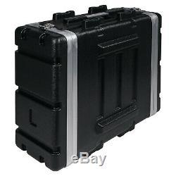 Sound Town Lightweight 4U PA DJ Rack/Road Case with ABS, 19 Depth (STRC-A4U)