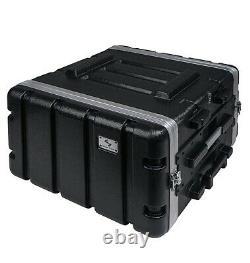 Sound Town Lightweight 6U PA DJ Rack/Road Case ABS, 19 Depth (STRC-A6UT)