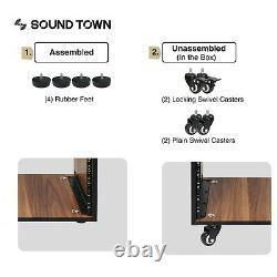 Sound Town SDRK DIY Series Studio Racks (20U withCasters) SDRK-20WN