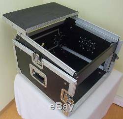 TEGO PRO 6/8HE Winkelrack mit Laptop Notebook Ablage L-Rack Kombicase DJ Rack