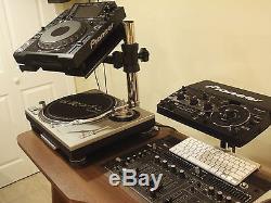 Technics Turntable DJ Mixer CD Laptop Pioneer CDJ Universal Equipment Stand $279