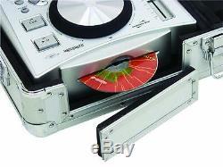 Universal-Konsole DIGI-2 2xCD/1xM-10 alu DJ-Case DJ-Workstation Konsolencase NEU