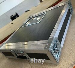 Used Deep Front 2U 2 Door 19 Rack Mount PC/Amp Large DJ Flight Case Equipment