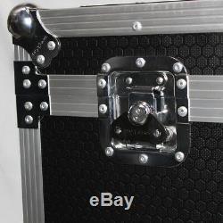 Utility Trunk ATA Road Case with Casters Rubber Lined for Cables DJ & More