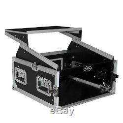 Vertical front load Mixer combo amp Rack case 10U Top Slant with Laptop Shelf
