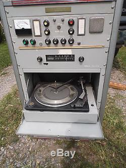 Vintage Industrial Dukane Rack Mount Cabinet w Amp/Tuner/Phono/Preamp/Mixer