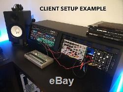 White 3u angled 19 inch wooden rack unit/case/cabinet for studio/DJ/recording