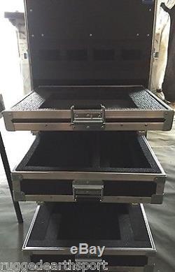 Wilson Transport Large Electronic DJ Gear Rack Musician Flight Case Wheels Table
